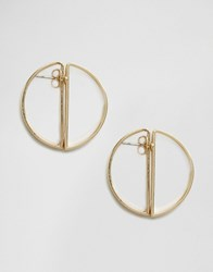 Pieces Hally Through And Through Earrings Gold