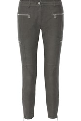 Michael Kors Stretch Cotton Blend Skinny Pants Gray