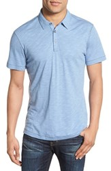Men's Robert Barakett 'Chester' Slub Knit Polo Spring Blue