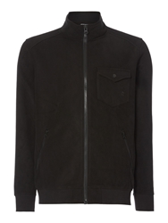 Army And Navy Howard Full Zip Fleece Track Top Black