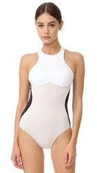 Stella Mccartney Miracle One Piece Black Stone White