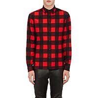 Balenciaga Men's Buffalo Checked Shirt Black Red No Color Black Red No Color