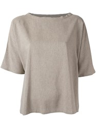 Maison Martin Margiela Mm6 Loose Fit Shortsleeved Top Nude Neutrals