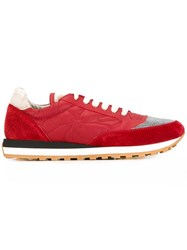 Brunello Cucinelli Contrast Panel Sneakers Red