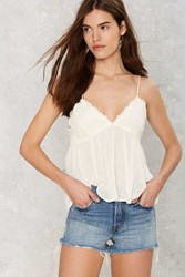 Nasty Gal Cliffside Embroidered Cami Top
