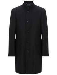 John Lewis Italian Funnel Neck Overcoat Charcoal