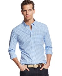 Tommy Hilfiger Big And Tall Long Sleeve Twain Check Shirt Collection Blue