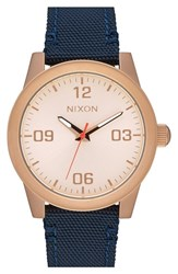 Nixon Men's 'G.I.' Round Dial Nylon Strap Watch 36Mm