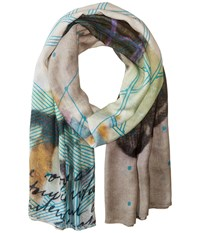 Liebeskind Neon Scarf Vibrant Blue Neon Scarves Multi