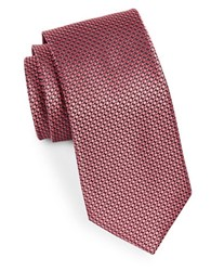 Michael Michael Kors Ring Neat Silk Woven Tie Coral