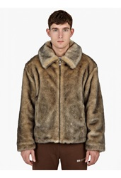 Gosha Rubchinskiy Brown Fur Effect Jacket