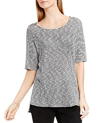 Vince Camuto Two By Camtuo Metallic Marled Tee Rich Black