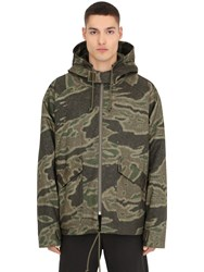 Yeezy Camouflage Cotton And Nylon Canvas Jacket