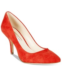 Inc International Concepts Womens Zitah Pointed Toe Pumps Women's Shoes Bright Red