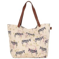 White Stuff Serengeti Canvas Shopper Bag Multi
