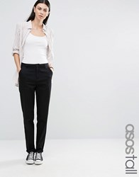 Asos Tall Chino Trousers Black