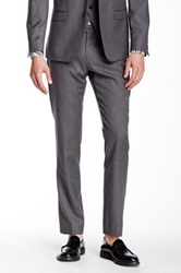 Ben Sherman Camden Grey Flannel Wool Suit Separates Pant Gray