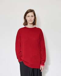 Y's Drop Shoulder Pullover Red