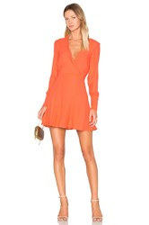C Meo Collective Hold Tight Long Sleeve Dress Orange