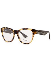 Miu Miu Tortoiseshell Cat Eye Optical Glasses