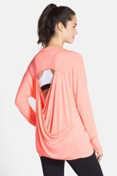 Zella 'Athena' Open Back Drape Cardigan Orange