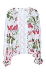 Andrew Gn Floral Printed Top Pink