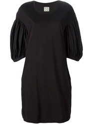 Douuod Puff Sleeve Shift Dress
