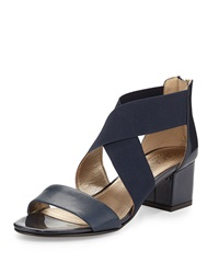 Circa Joan And David Valley Crisscross Strap Sandal Navy