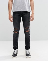 Religion Ripped Noize Jeans Black