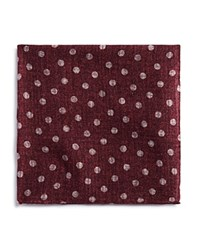Bloomingdale's The Men's Store At Large Dot Pocket Square Burgundy