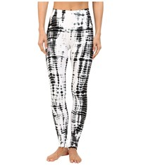 Hard Tail High Rise Ankle Leggings All Over Lizard Women's Casual Pants Black