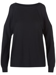 Jaeger Cold Shoulder Slouch Top Black