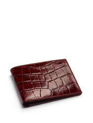 Aspinal Of London Billfold Wallet Red