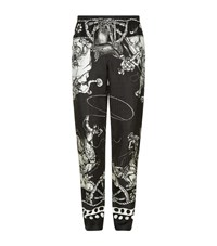 Dolce And Gabbana Old West Print Pyjama Bottoms Male Black