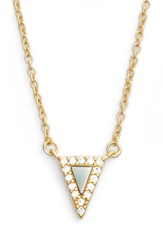 Freida Rothman 'Visionary' Small Triangle Pendant Necklace Gold Mother Of Pearl
