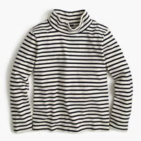 J.Crew Sailor Stripe Funnelneck T Shirt Natural Undyed Navy