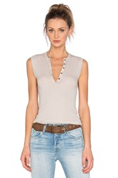Atm Anthony Thomas Melillo Henley Tank Light Gray
