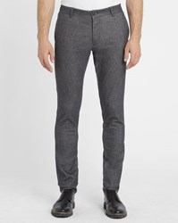 Armani Jeans Mottled Black P15 Stretch Chinos