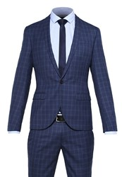 Noose And Monkey Ellroy Suit Blue