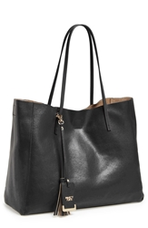 Poverty Flats By Rian 'Colorful' Faux Leather Shopper Black Black