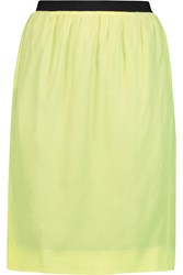 Golden Goose Twill Skirt Yellow