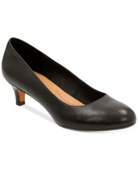 Clarks Artisan Women's Heavenly Shine Kitten Heel Pumps Women's Shoes Black Leather