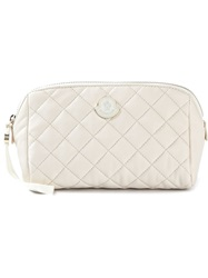 Moncler Quilted Beauty Case White