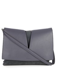 Jil Sander View Medium Leather Shoulder Bag Grey