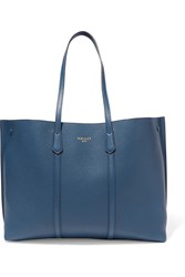 Mallet And Co Laurie Textured Leather Tote Royal Blue