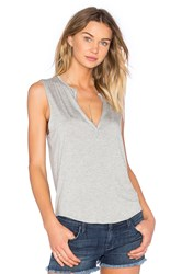 Feel The Piece Kassy Deep V Tank Gray