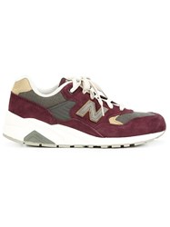 New Balance Panelled Sneakers Red