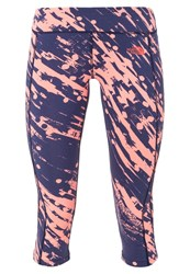 The North Face Tights Neon Peach Paintball Print Rose
