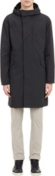Theory Coppins Hooded Raincoat Black Size M