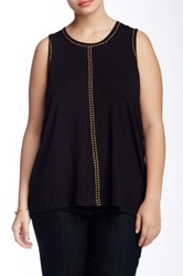 Chelsea And Theodore Studded Jersey Tank Black